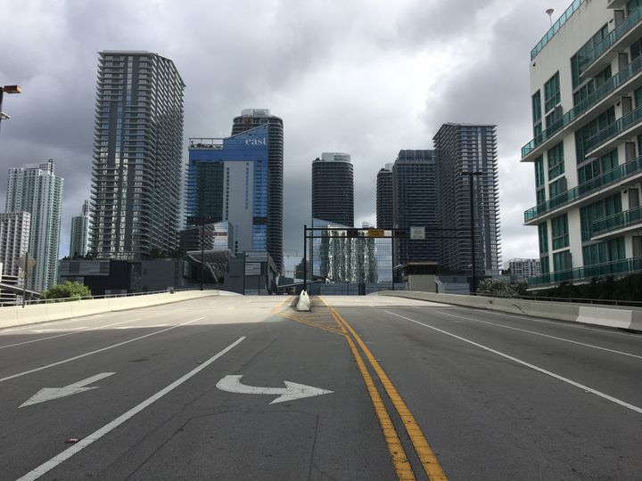 Miami has become a ghost town just one day before Hurricane Irma is set to hit.