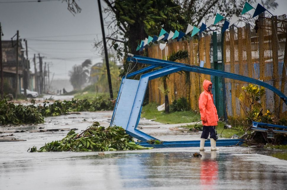 Damage caused by Hurricane Irma in Cuba.