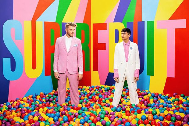 Scott Hoying and Mitch Grassi of Superfruit prep for the Sept. 15 release of EP <em>Future Friends, Part Two.</em>