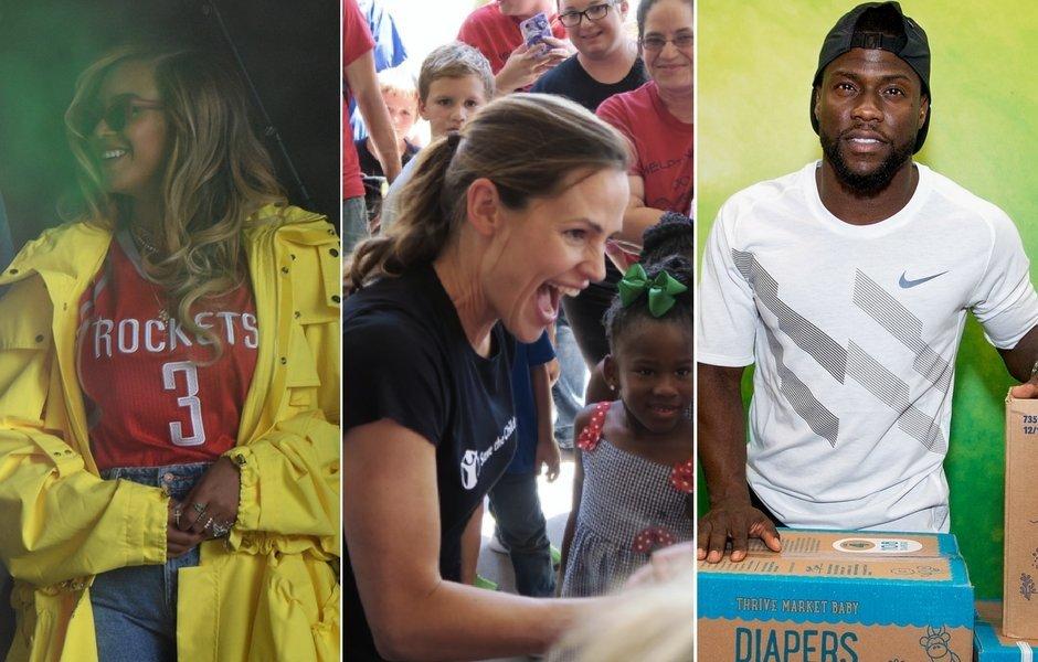 Celebrities Head To Houston For Hurricane Harvey