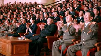 North Korean leader Kim Jong Un claps during a celebration for nuclear scientists and engineers who contributed to a hydrogen bomb test, in this undated photo released by North Korea's Korean Central News Agency (KCNA) in Pyongyang on September 10, 2017. KCNA via REUTERS   ATTENTION EDITORS - THIS PICTURE WAS PROVIDED BY A THIRD PARTY. REUTERS IS UNABLE TO INDEPENDENTLY VERIFY THE AUTHENTICITY, CONTENT, LOCATION OR DATE OF THIS IMAGE. NO THIRD PARTY SALES. SOUTH KOREA OUT. NO COMMERCIAL OR EDITORIAL SALES IN SOUTH KOREA. THIS PICTURE IS DISTRIBUTED EXACTLY AS RECEIVED BY REUTERS, AS A SERVICE TO CLIENTS.