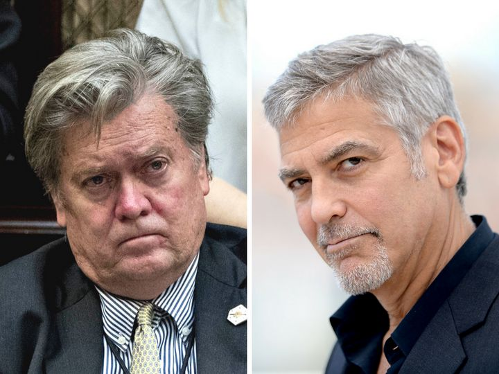 """Steve Bannon """"would still be in Hollywood making movies and kissing my ass,"""" if he could, said George Clooney."""
