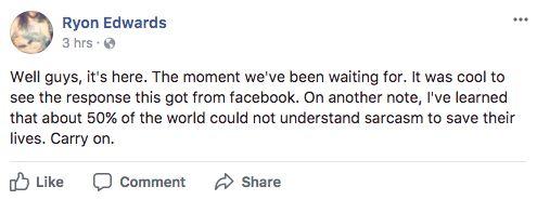 Police Warn People Not To Shoot At Hurricane Irma As Facebook Joke Goes