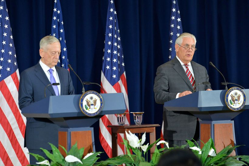 From left, Defense Secretary James Mattis and Secretary of State Rex Tillerson | Photo by U.S. Department of State