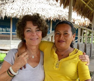 Flicka with Angelita, an ayahuascara who supported her on her journey in Peru.