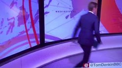 BBC Newsreader Frantically Darts Back-And-Forth Around Set In Hilarious Live