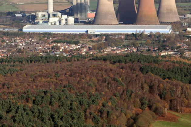 Rural location: The huge Amazon site at Rugeley straddles the town's former power station and is located...