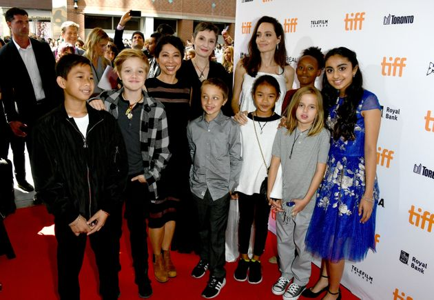 Angelina Jolie Attends TIFF Premiere Of 'The Breadwinner' With Her