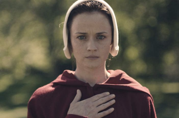 "Alexis Bledel in ""The Handmaid's Tale."""