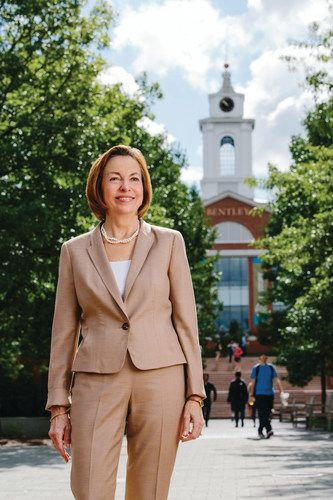 Gloria Cordes Larson is the President of Bentley University and author of <em>PreparedU: How Innovative Colleges Drive Studen