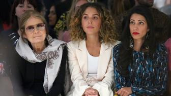 NEW YORK, NY - SEPTEMBER 10: Gloria Steinem, Cleo Wade and Huma Abedin attend Prabal Gurung fashion show during New York Fashion Week: The Shows  at Gallery 2, Skylight Clarkson Sq on September 10, 2017 in New York City.  (Photo by Astrid Stawiarz/Getty Images For NYFW: The Shows)