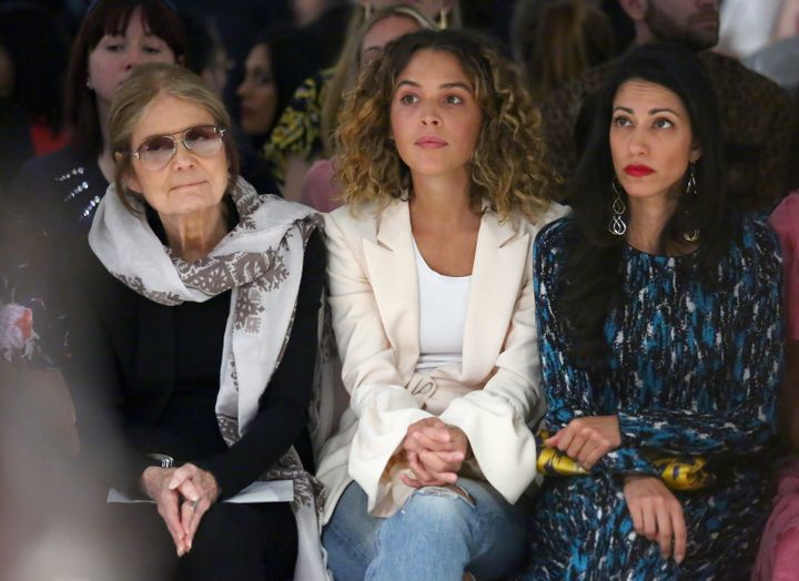 Gloria Steinem, Cleo Wade and Huma Abedin attend Prabal Gurung fashion show during New York Fashion Week, September 10, 2017.