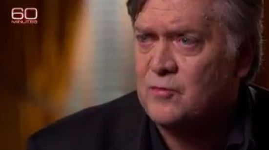 Steve 'Red-Eye' Bannon in a still from his 60 Minutes