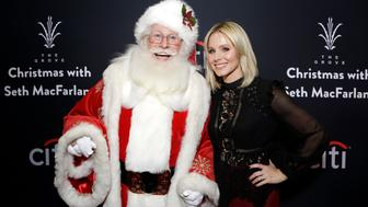 LOS ANGELES, CA - NOVEMBER 13:  Actress Kristen Bell and Santa Claus attend The Grove Christmas with Seth MacFarlane, presented by Citi at The Grove on November 13, 2016 in Los Angeles, California.  (Photo by Tiffany Rose/Getty Images for Caruso Affiliated)