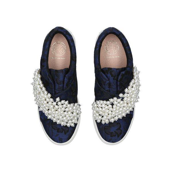 """<a href=""""http://www.kurtgeiger.us/women/shoes/trainers/slip-ons/ottis-blue-other-fabric-kg-kurt-geiger"""" target=""""_blank"""">Shop"""