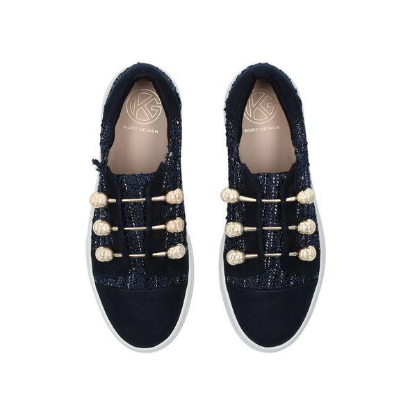 """<a href=""""http://www.kurtgeiger.us/women/shoes/trainers/flatforms/orla-blue-other-fabric-kg-kurt-geiger"""" target=""""_blank"""">Shop"""