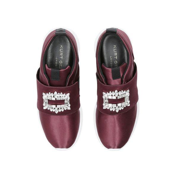 "<a href=""http://www.kurtgeiger.us/women/shoes/trainers/slip-ons/leighton-wine-fabric-kurt-geiger-london"" target=""_blank"">Shop"