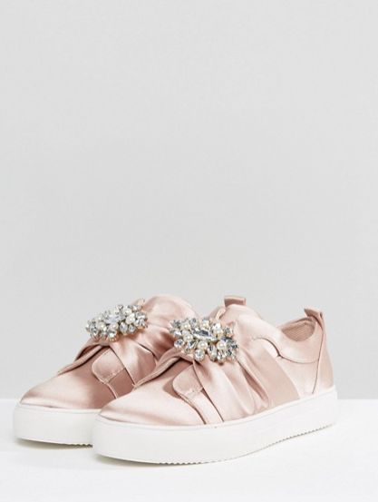 "<a href=""http://us.asos.com/new-look/new-look-embellished-brooch-satin-sneaker/prd/8338871?clr=lightpink&SearchQuery=embe"