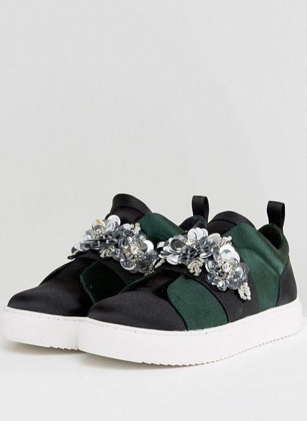 "<a href=""http://us.asos.com/asos/asos-desert-rose-embellished-sneakers/prd/8325570?clr=greenblack&SearchQuery=embellished"