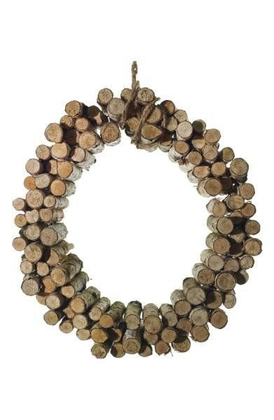 "Get this wooden wreath <strong><a href=""http://shop.nordstrom.com/s/accent-decor-birch-peg-wreath/4650361?origin=category-per"