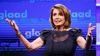 SAN FRANCISCO, CA - SEPTEMBER 09:  Congresswoman Nancy Pelosi speaks at the 2017 GLAAD Gala at City View at Metreon on September 9, 2017 in San Francisco, California.  (Photo by Kimberly White/Getty Images for GLAAD)