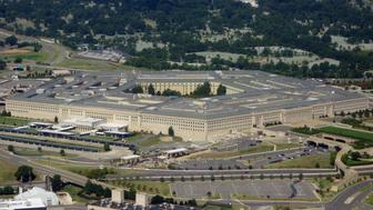The Pentagon is seen from the air over Washington, DC on August 25, 2013. The 6.5 million sq ft (600,000 sq meter) building serves as the headquarters of the US Department of Defense and was built from 1941 to1943. AFP PHOTO / Saul LOEB / AFP PHOTO / SAUL LOEB        (Photo credit should read SAUL LOEB/AFP/Getty Images)