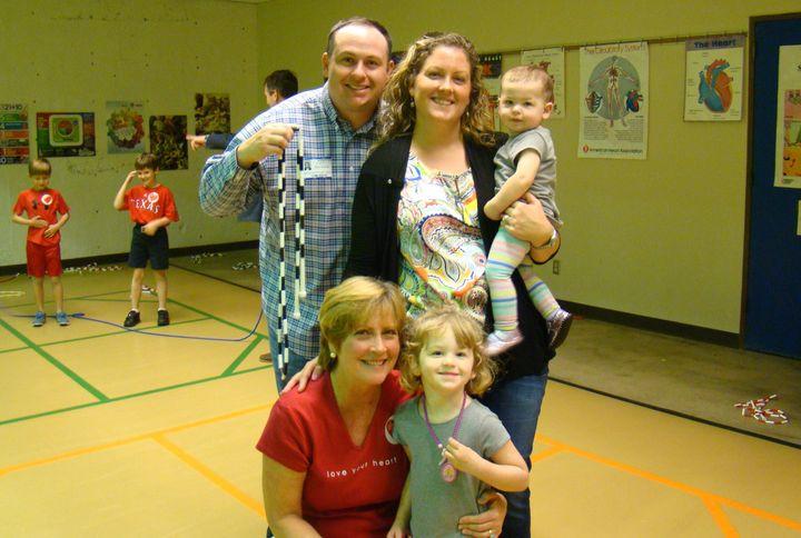 <p>Kris Brockhagen (bottom left), with daughter, Katee; Katee's husband, Taylor; Kris' granddaughters, Karlee and Caroline. </p>