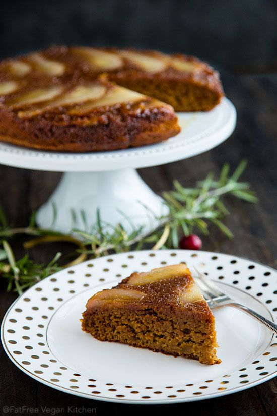 """<strong>Get the <a href=""""http://blog.fatfreevegan.com/2015/12/pear-spice-upside-down-cake.html"""" target=""""_blank"""">Pear Spice Up"""