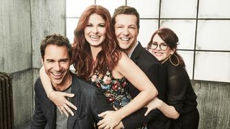 NBCUNIVERSAL EVENTS -- NBCUniversal Portrait Studio, August 2017 -- Pictured: Sean Hayes, Eric McCormack, Debra Messing, Megan Mullally, 'Will & Grace' -- (Photo by Maarten de Boer/NBC via Getty Images)