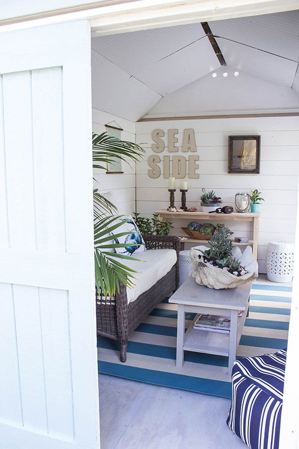 "<em>A sea-themed ""she-shed"" from the Home Depot Blog</em>"