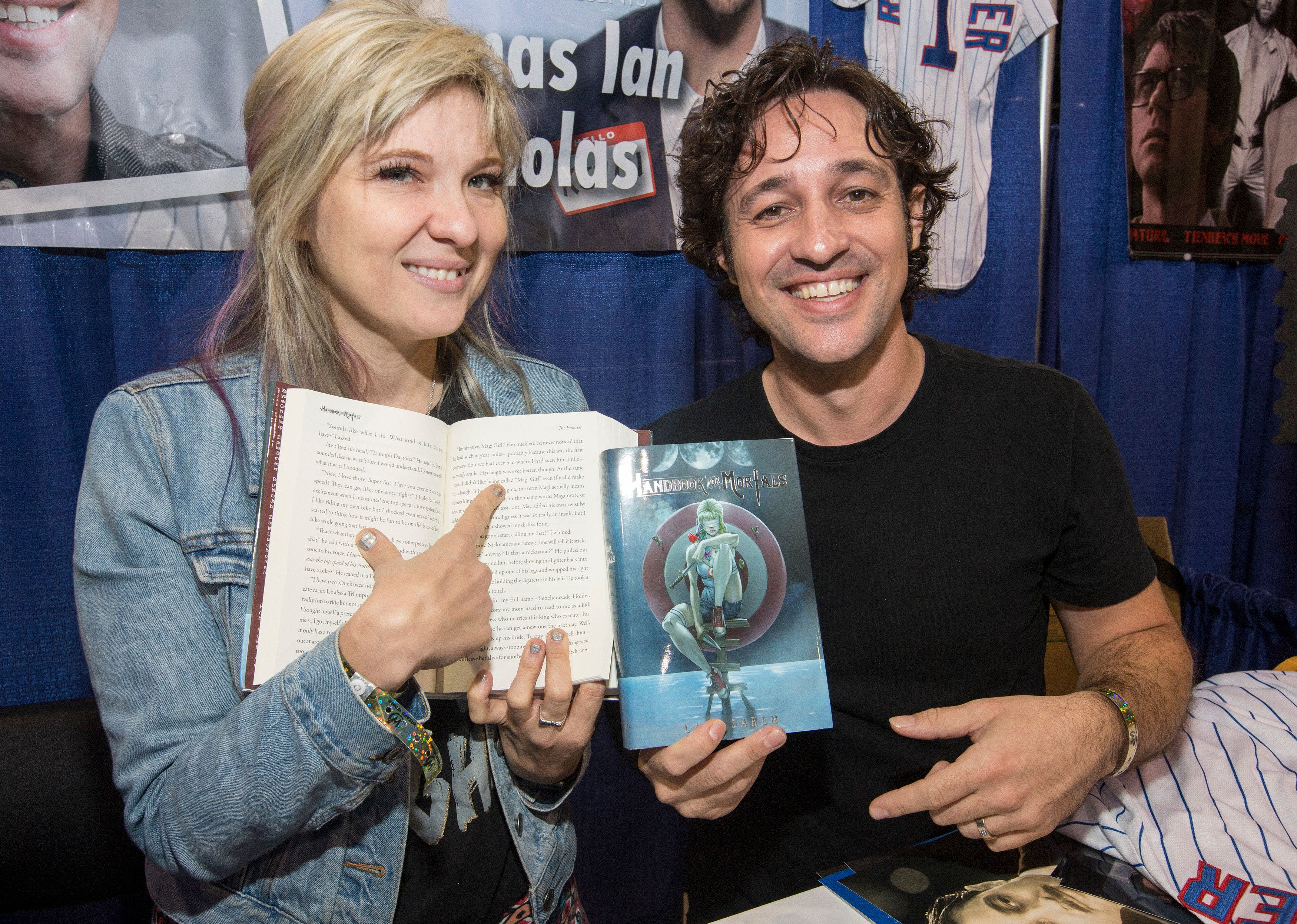 ROSEMONT, IL - AUGUST 25:  Writer Lani Sarem and actor/musician Thomas Ian Nicholas during the Wizard World Chicago Comic-Con at the Donald E. Stephens Convention Center on August 25, 2017 in Rosemont, Illinois.  (Photo by Barry Brecheisen/Getty Images)