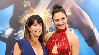HOLLYWOOD, CA - MAY 25:  Patty Jenkins (L) and Gal Gadot arrive at the Los Angeles premiere of Warner Bros. Pictures' 'Wonder Woman' held at the Pantages Theatre on May 25, 2017 in Hollywood, California.  (Photo by Michael Tran/FilmMagic)