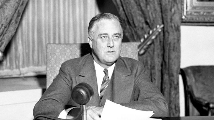 President Franklin D. Roosevelt addresses the nation