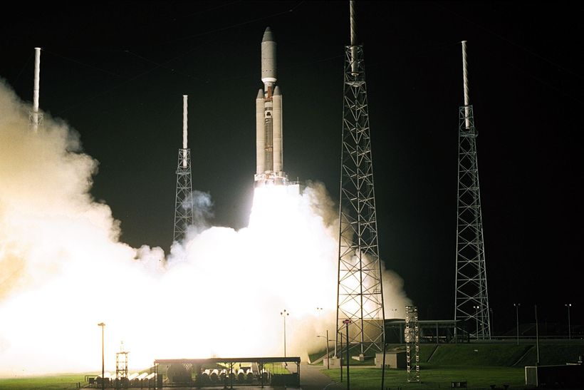 Launch of Cassini in 1997.