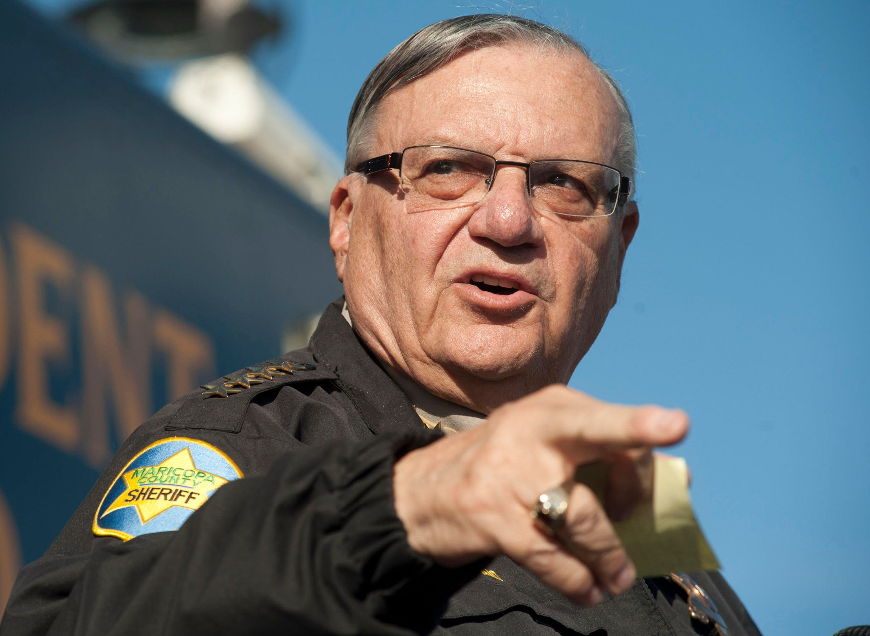 Maricopa County Sheriff Joe Arpaio announces newly launched program aimed at providing security around schools in Anthem, Arizona, U.S. January 9, 2013. REUTERS/Laura Segall/File Photo