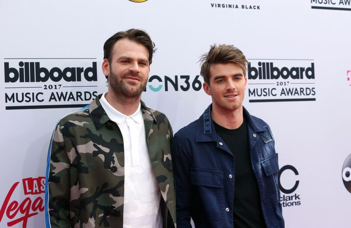DJs Alex Pall (L) and Andrew Taggart of The Chainsmokers.