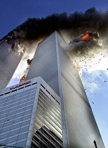 The Twin Towers in New York on September 11, 2001.