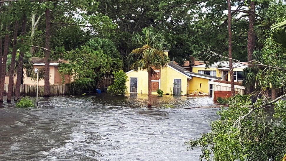 Homes throughout the city were damaged by flooding.