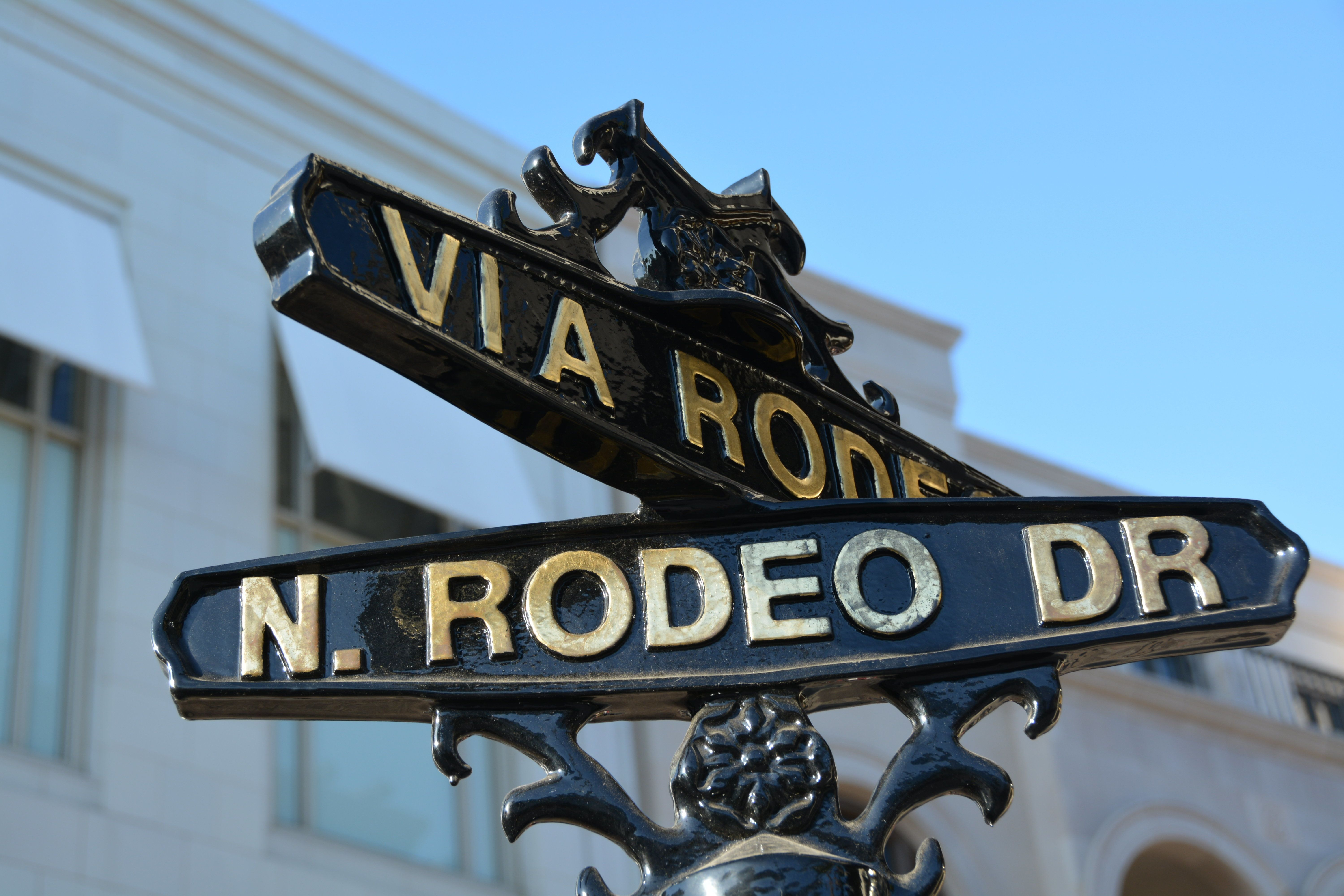 Street sign of Rodeo drive in Beverly Hills, Los Angeles
