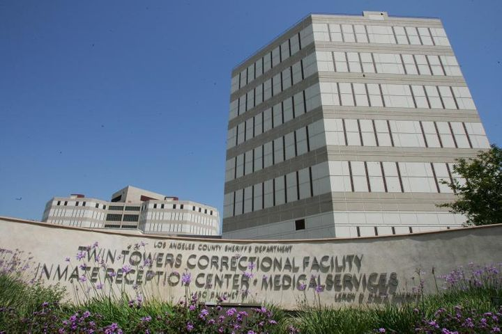 "The Los Angeles County Main Jail, nicknamed ""Twin Towers,"" in 2007"