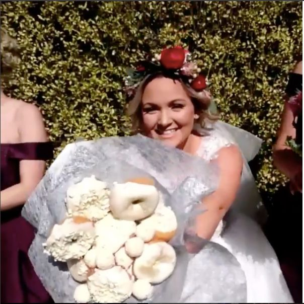 Bridal Party's Doughnut Bouquets Are A Delicious