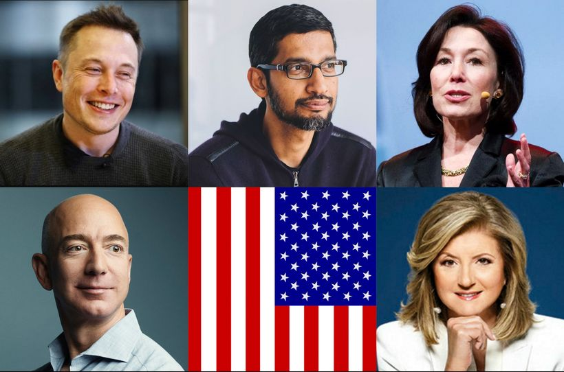 Immigrants, or chidren of immigrants: Elon Musk, CEO Tesla;  Jeff Bezos, CEO Amazon; Sundar Pichai, CEO Google; Safra Catz, C