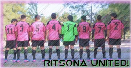 <em>Pictured: Ritsona United FC, founded by Bassam Omar alongside La Asociación Amigos de Ritsona.</em>