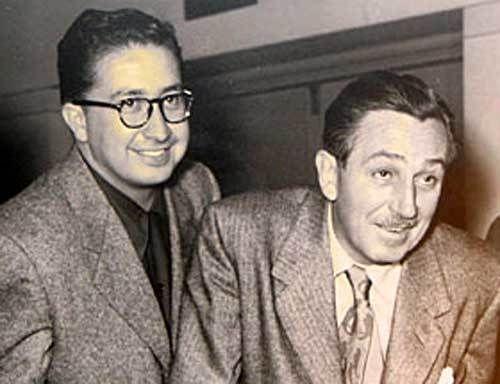 X Atencio and Walt Disney circa 1954