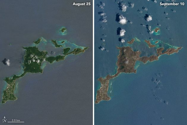 NASA Reveals How Hurricane Irma Completely Transformed These Caribbean