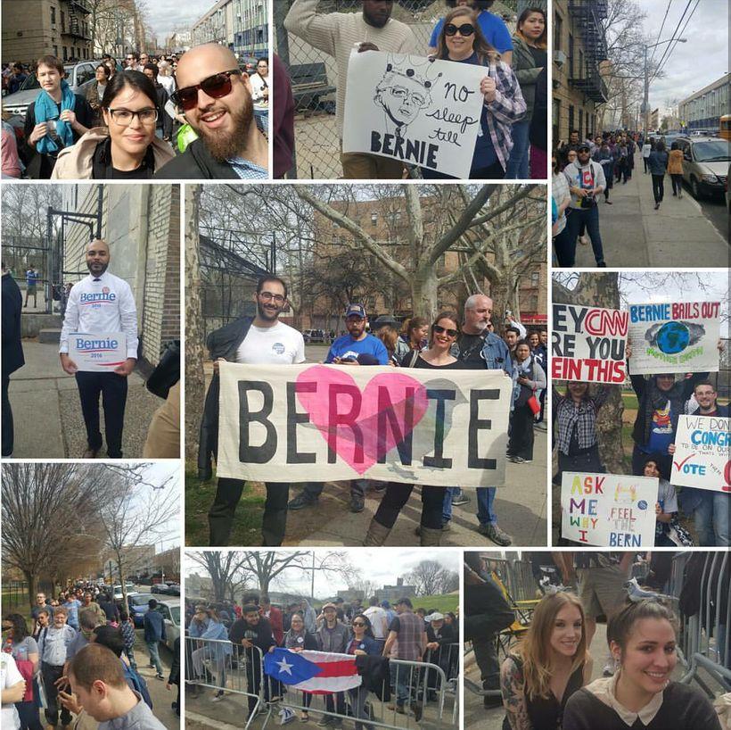 Beltzer supporting Bernie Sanders