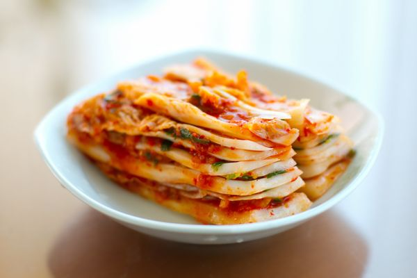 Kimchi is a traditional Korean food that is made offermented vegetables (mostly cabbage) with probiotic lactic acid bac