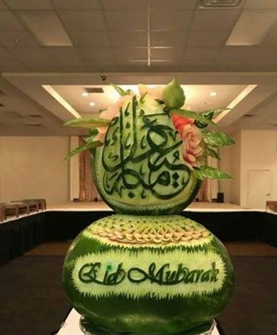 Ghazal's food art for the Islamic holiday of Eid.