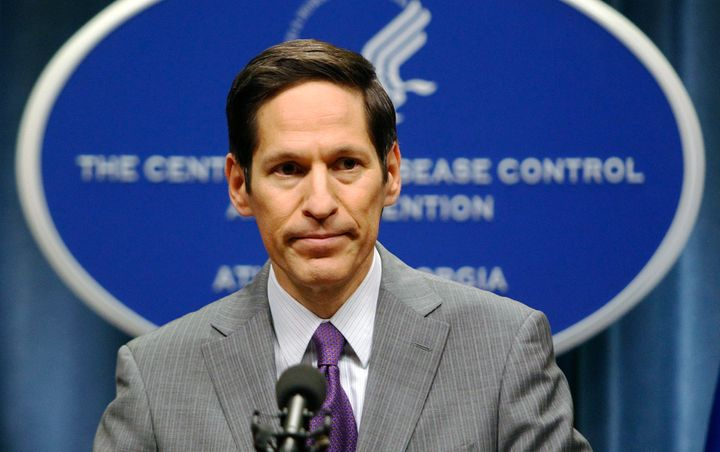 Dr. Thomas Frieden speaks at the Centers for Disease Control and Prevention headquarters in Atlanta on Sept. 30, 2014.