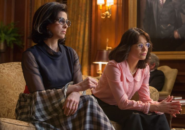 "Sarah Silverman and Emma Stone star in ""Battle of the Sexes."""